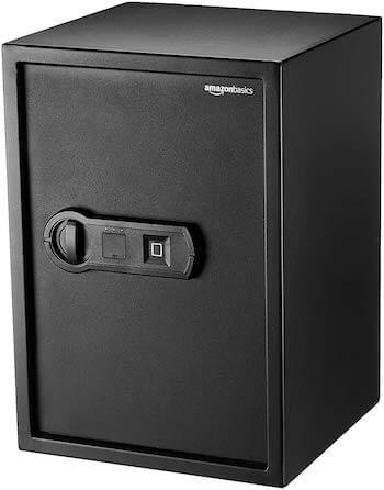 AmazonBasics Biometrischer Tresor mit Fingerabdruck